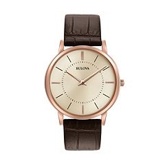 Bulova Men's Classic Ultra Slim Leather Watch - 97A126