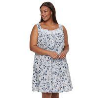 Plus Size Croft & Barrow® Pajamas: Crochet Nightgown