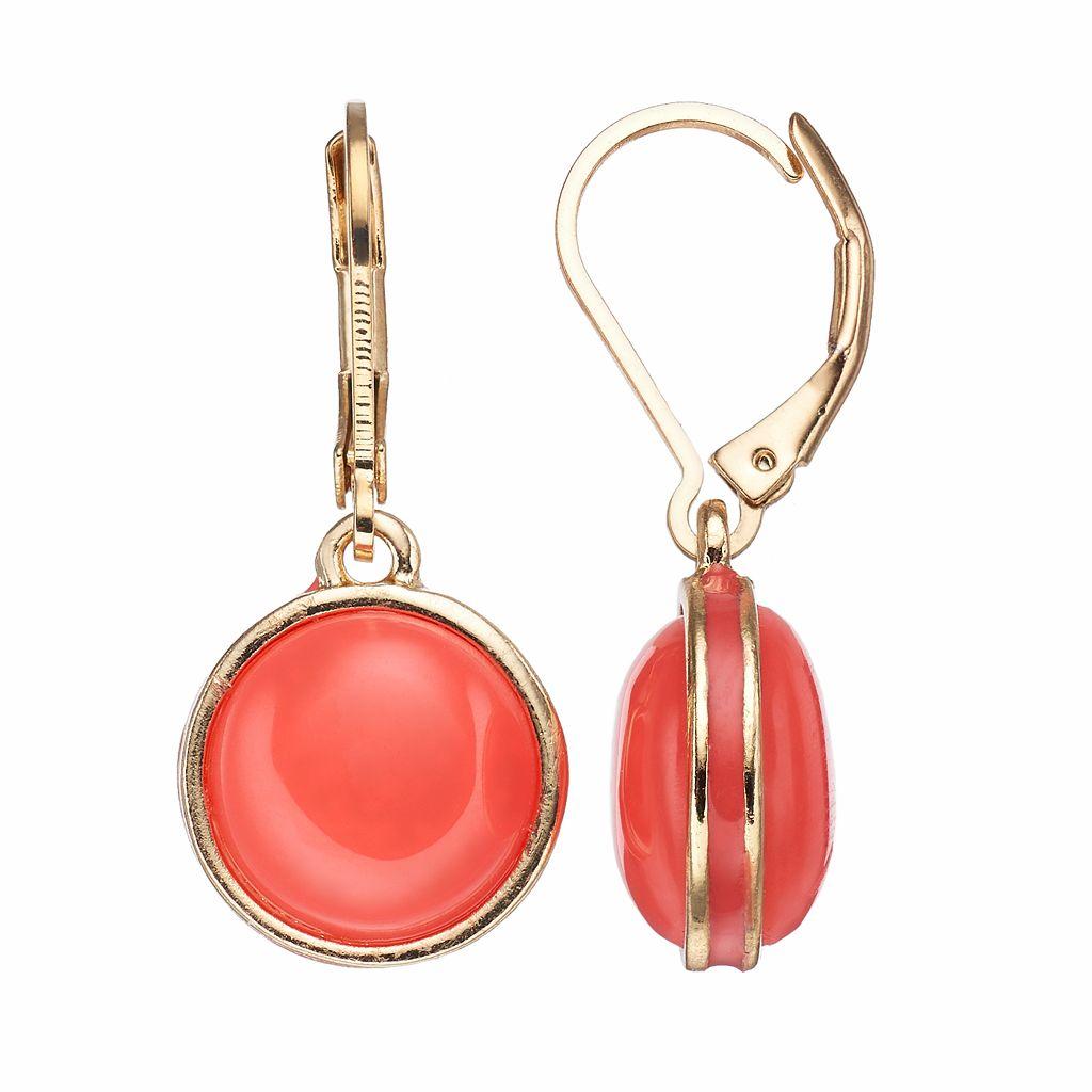 Napier Circle Drop Earrings