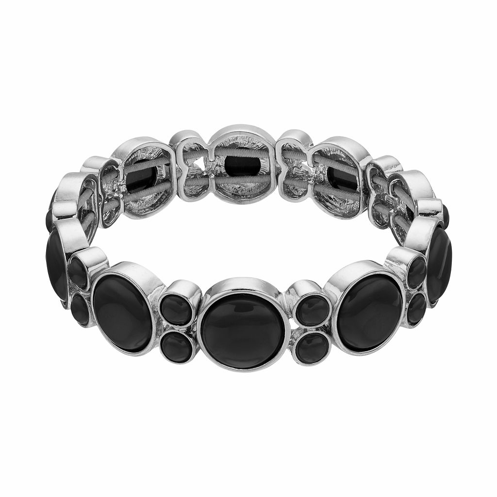 Napier Round Cabochon Stretch Bracelet