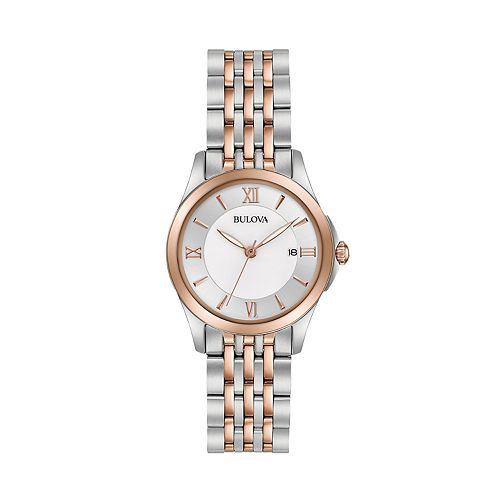 Bulova Women's Two Tone Stainless Steel Watch - 98M125