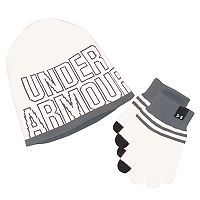 Girls 4-16 Under Armour Logo Knit Hat & Gloves Set