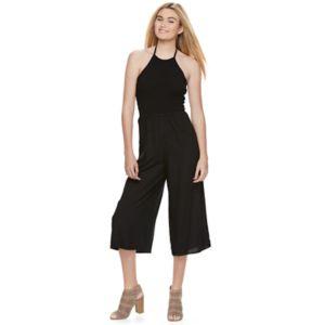 Juniors' Mudd® Halter Culotte Jumpsuit