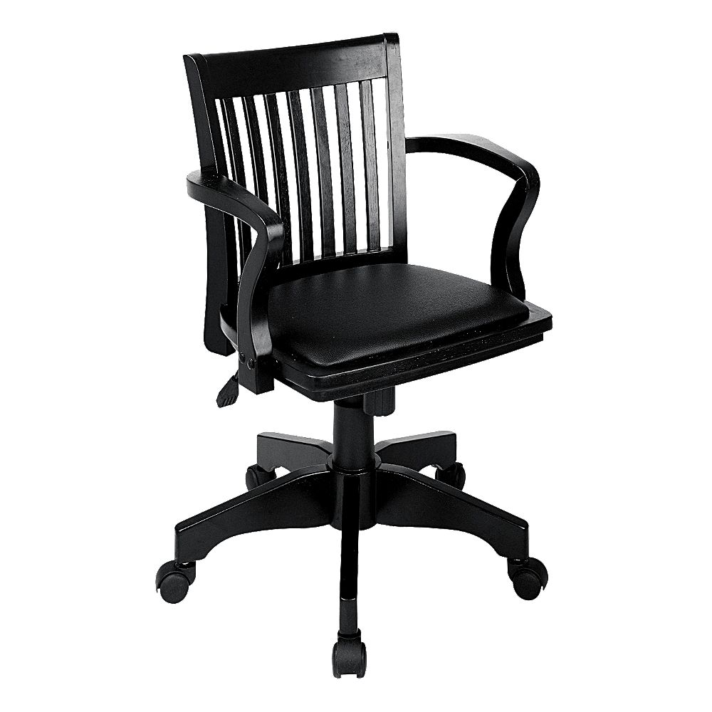 OSP Home Furnishings Star Deluxe Banker's Chair with Vinyl Seat