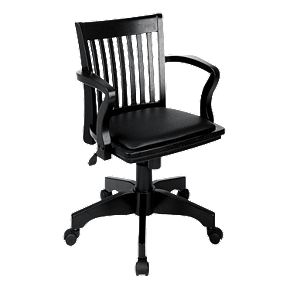 Office Star Products Deluxe Banker's Chair with Vinyl Seat