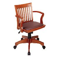 Office Star Products Star Deluxe Banker's Chair with Vinyl Seat