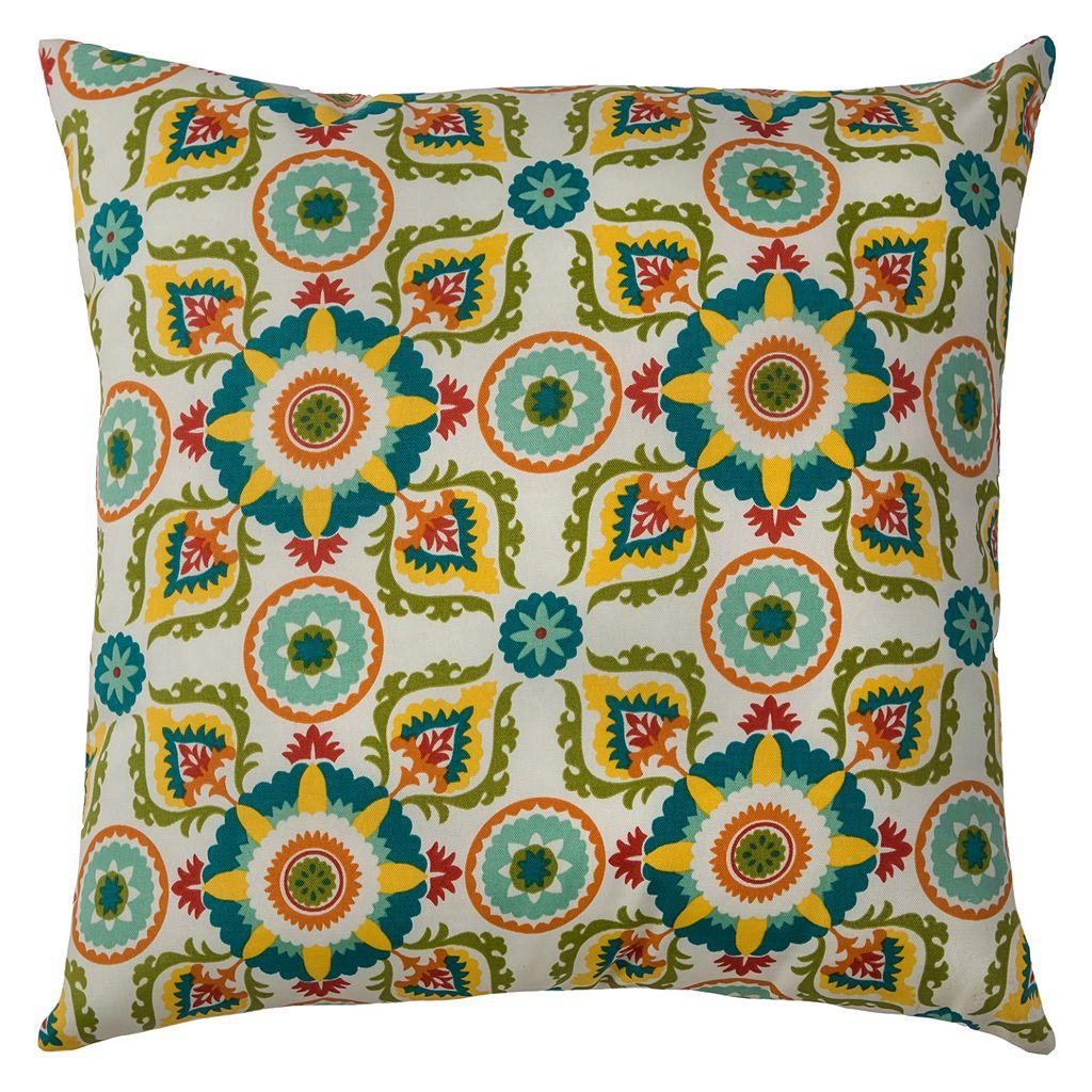 Rizzy Home Sorbetto Medallions Indoor Outdoor Throw Pillow