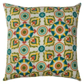 Rizzy Home Sorbetto Medallions Indoor Outdoor Throw Pillow