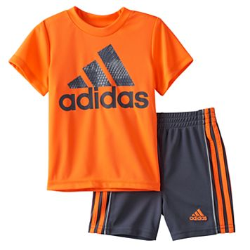 Baby Boy adidas Graphic Tee & Shorts Set