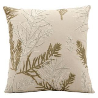Mina Victory Lumin Feather Branch Throw Pillow