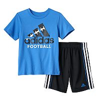 Baby Boy adidas Logo Football Tee & Shorts Set