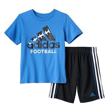 Baby Boy adidas Logo Football Tee & Shorts Set