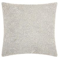 Mina Victory Lumin Beaded Leaves Throw Pillow