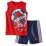 Baby Boy adidas Soccer Graphic Tee & Shorts Set