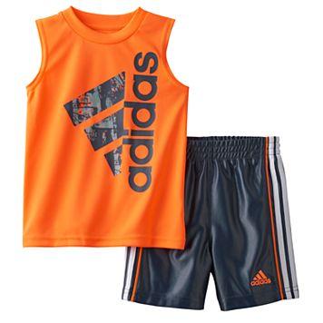 Baby Boy adidas Sleeveless Graphic Tee & Shorts Set