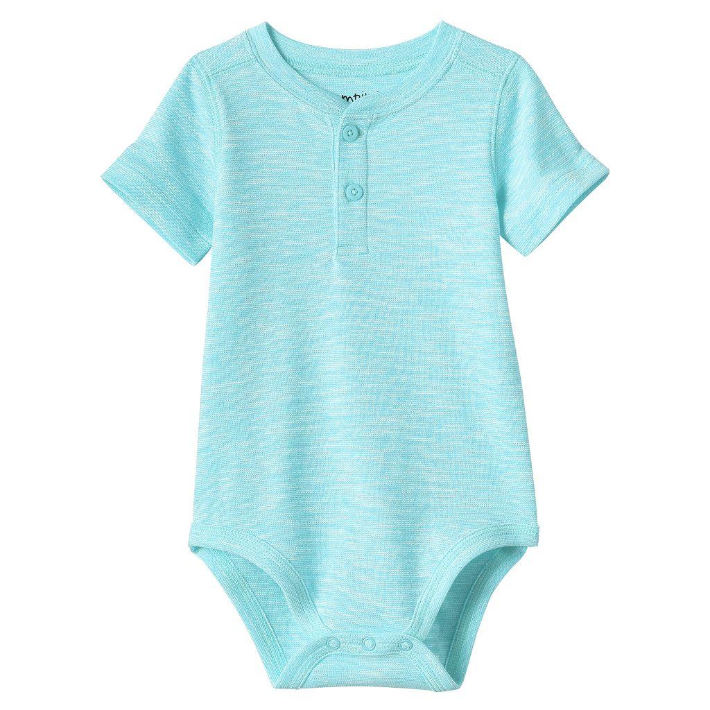 Baby Boy Jumping Beans® Slubbed Henley Bodysuit