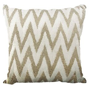 Mina Victory Lumin Beaded Chevron Throw Pillow