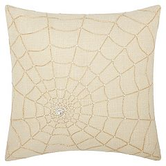 Mina Victory Lumin Beaded Spider Web Throw Pillow