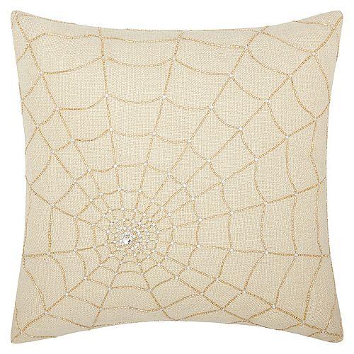Mina Victory Lumin Beaded Spider Web Throw Pillow