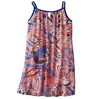 Girls 7-16 My Michelle Patterned Chiffon Slip Dress