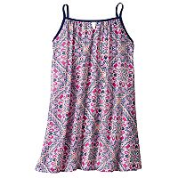 Girls 7-16 My Michelle Patterned Chiffon Slip Dress