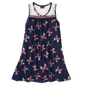 Girls 7-16 Lilt Lace Yoke Butterfly Shift Dress