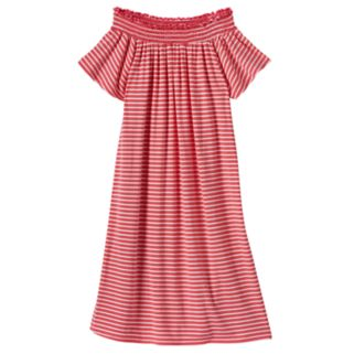 Girls 7-16 Love, Fire Smocked Off Shoulder Striped Dress