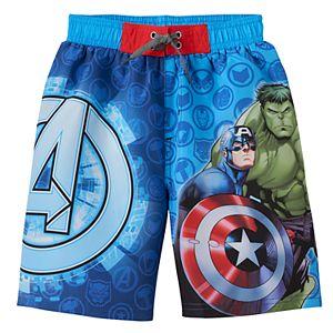 Boys 4-7 Marvel Avengers Swim Trunks