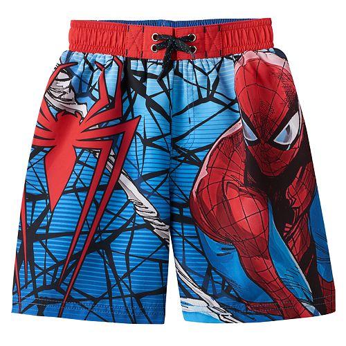 e18bd9fd9d622 Boys 4-7 Marvel Spider-Man Swim Trunks