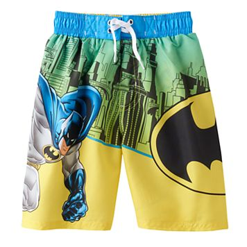 Boys 4-7 DC Comics Batman Gotham City Swim Trunks