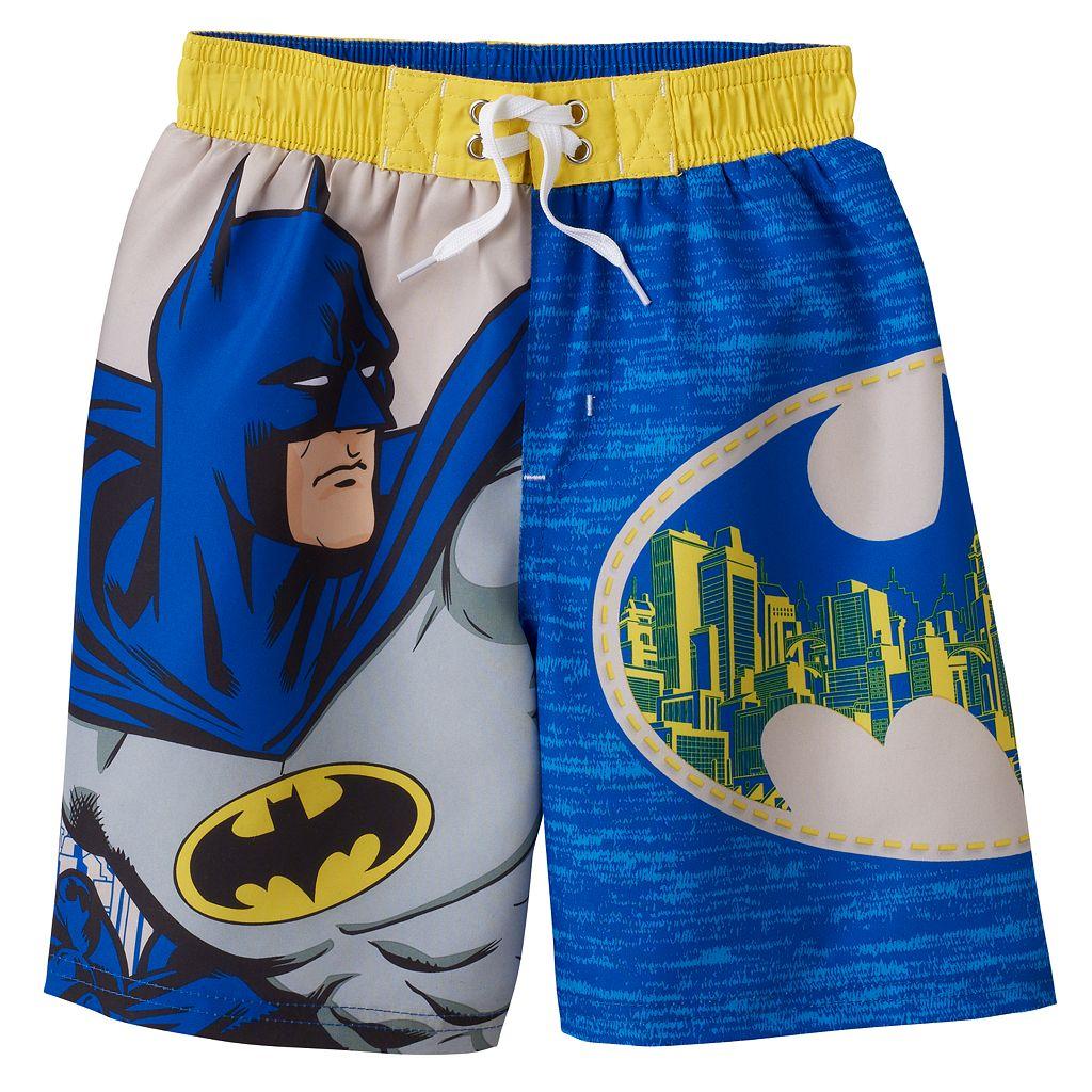 Boys 4-7 DC Comics Batman Gotham City Swim Trunks