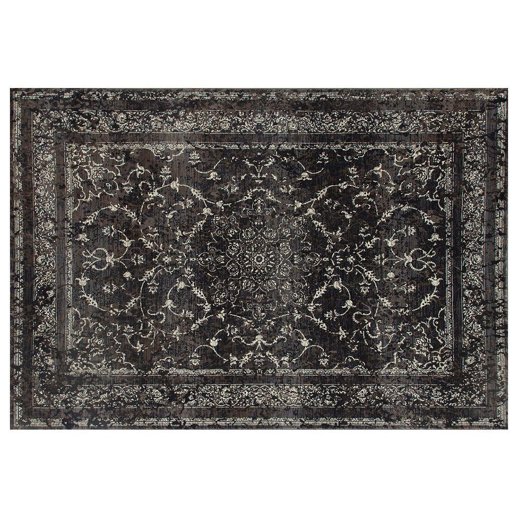 Art Carpet Chelsea Treasure Framed Floral Rug