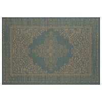 Art Carpet Plymouth Nest Framed Floral Indoor Outdoor Rug