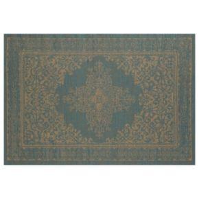 Art Carpet Plymouth Nest Framed Floral Indoor Outdoor Rug