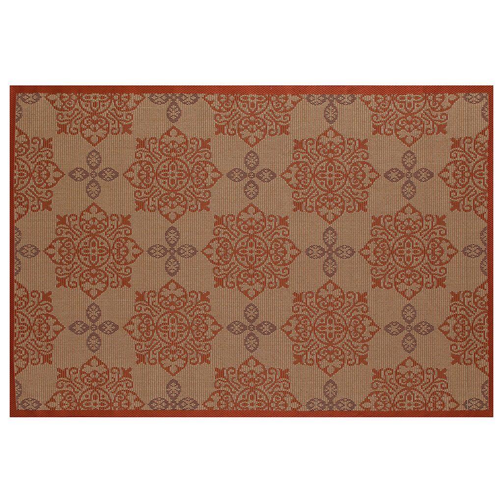 Art Carpet Plymouth Milan Framed Medallion Indoor Outdoor Rug