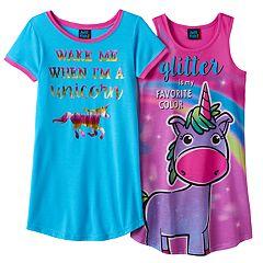 Girls 4-16 Jellifish Nightgown Pajama Set