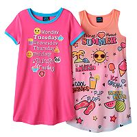 Girls 4-16 Jelli Fish Nightgown Pajama Set