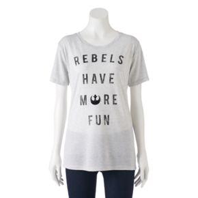"""Juniors' Star Wars """"Rebels Have More Fun"""" Graphic Tee"""