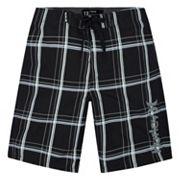 Boys 4-7 Puerto Rico Hurley Plaid Board Shorts