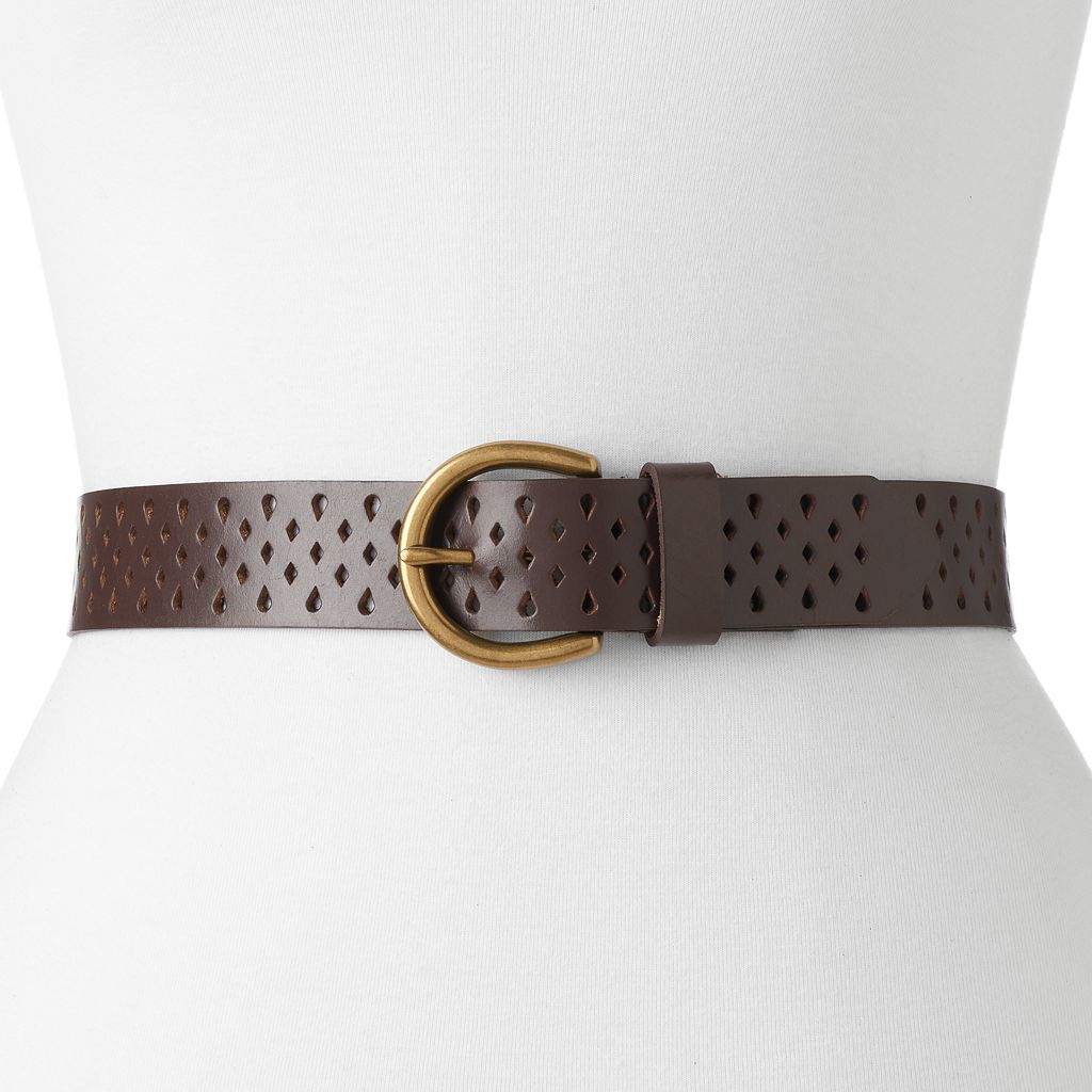 Women's SONOMA Goods for Life™ Teardrop Perforated Belt