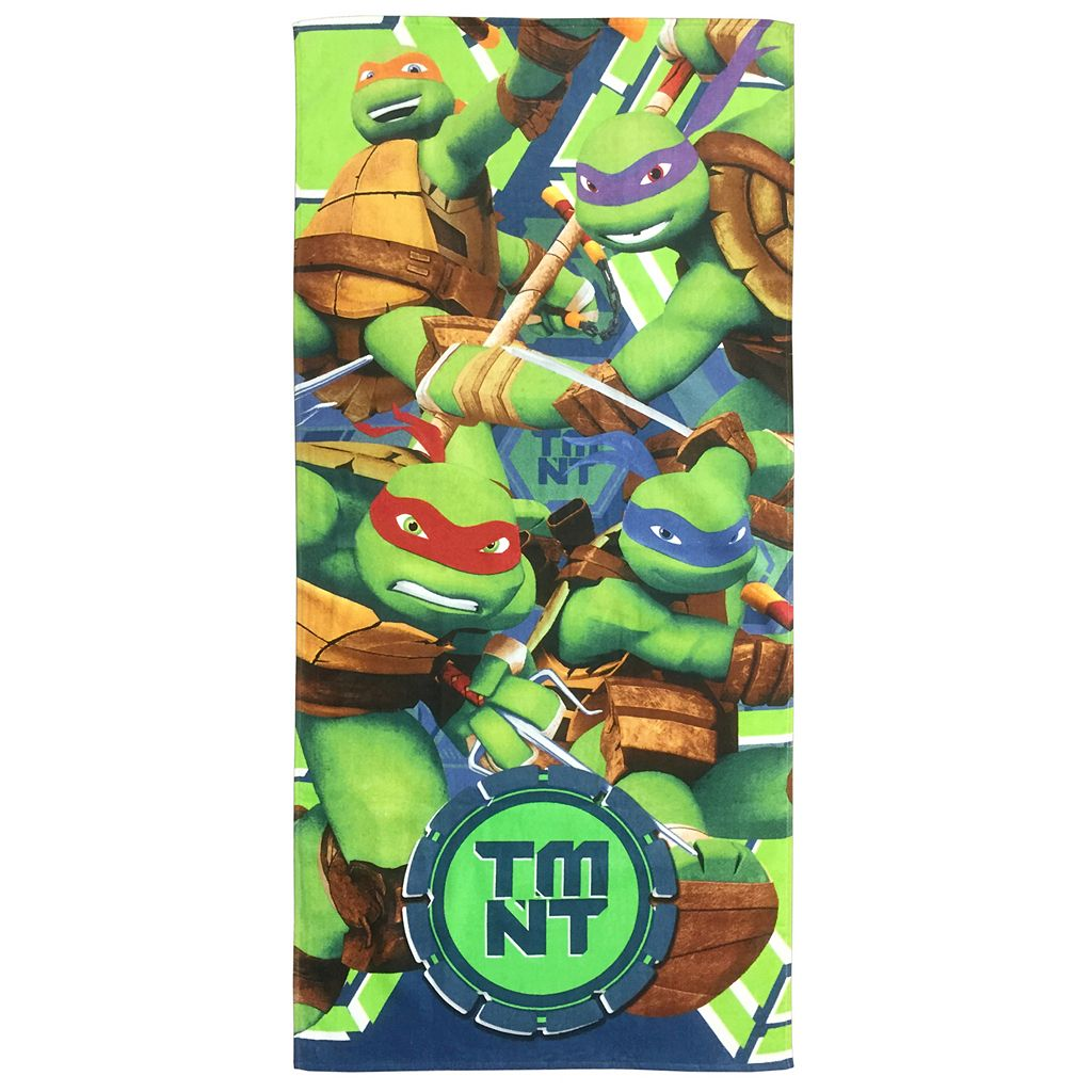 Nickelodeon Turtles Ready For Action Printed Beach Towel