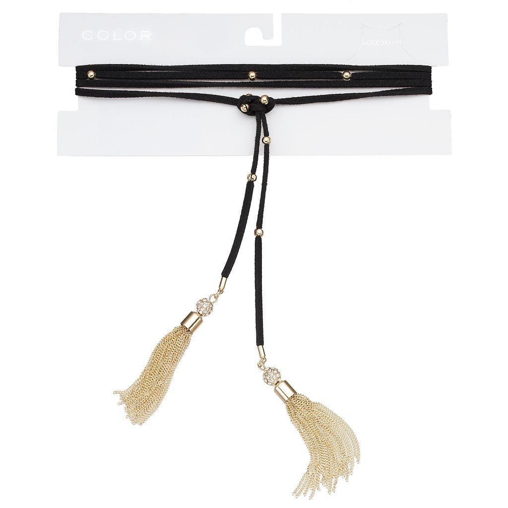 Tassel Wrap Choker Necklace