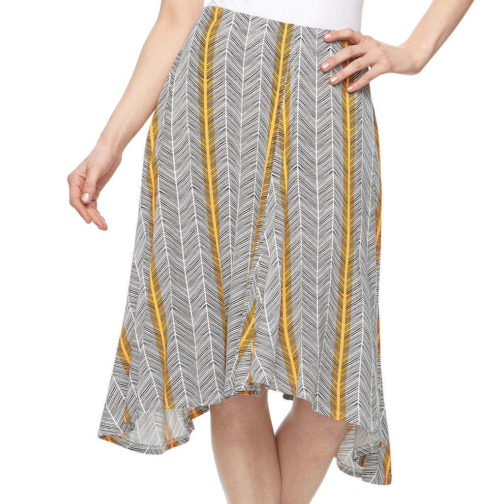 Women's Apt. 9® Shark-Bite Midi Skirt