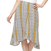 Women's Apt. 9® Shark-Bite Midi Skirt