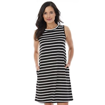 Women's AB Studio Striped Shift Dress