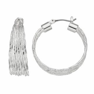 Napier Wavy Hoop Earrings