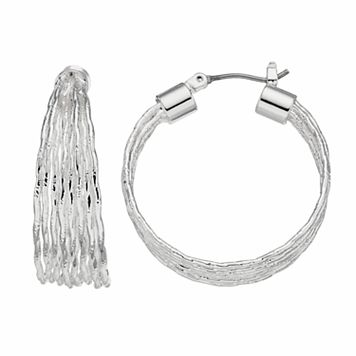 Napier Wavy Hoop Earrings