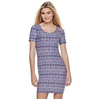 Juniors' Mudd® Short Sleeve Bodycon Dress