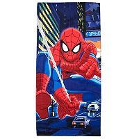 Marvel Comics Spider-Man Night City Printed Beach Towel