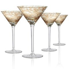 Artland Misty 4 pc Martini Glass Set